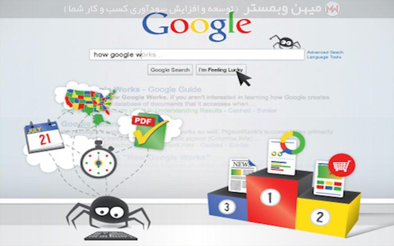 موتور های جستجو چگونه کار میکنند ؟,شیوه کار گوگل و موتورهای جستجو گر