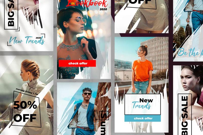 استوری آماده اینستاگرام لایه باز PSD سری فشن مد و لباس
