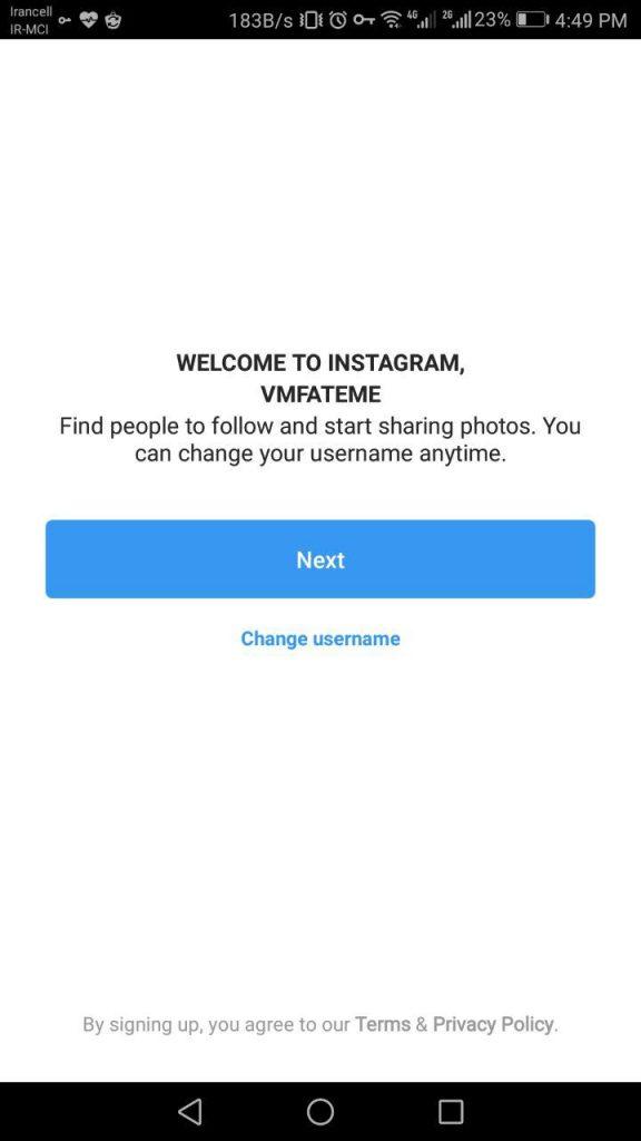 نحوه ثبت نام در اینستاگرام